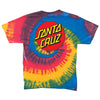 Santa Cruz Classic Dot Regular T-Shirt Rasta Tie-Dye