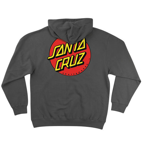 Santa Cruz Classic Dot Pullover Hooded Sweatshirt Charcoal