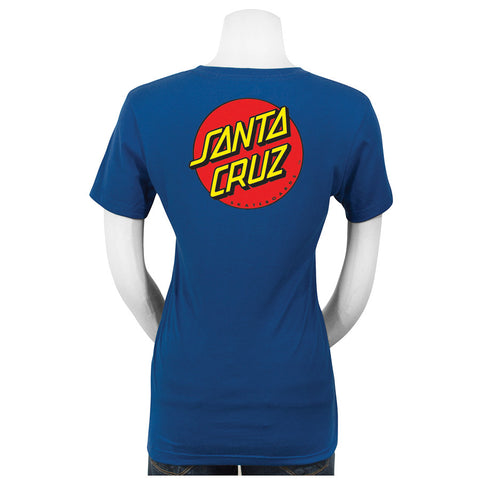 Santa Cruz Classic Dot Fitted Juniors T-Shirt Royal Blue