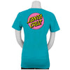 Santa Cruz Other Dot Fitted S/S T-Shirt Juniors Tahiti Blue