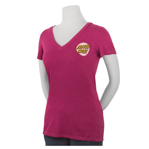 Santa Cruz Other Dot Fitted V-Neck T-Shirt Juniors Lush