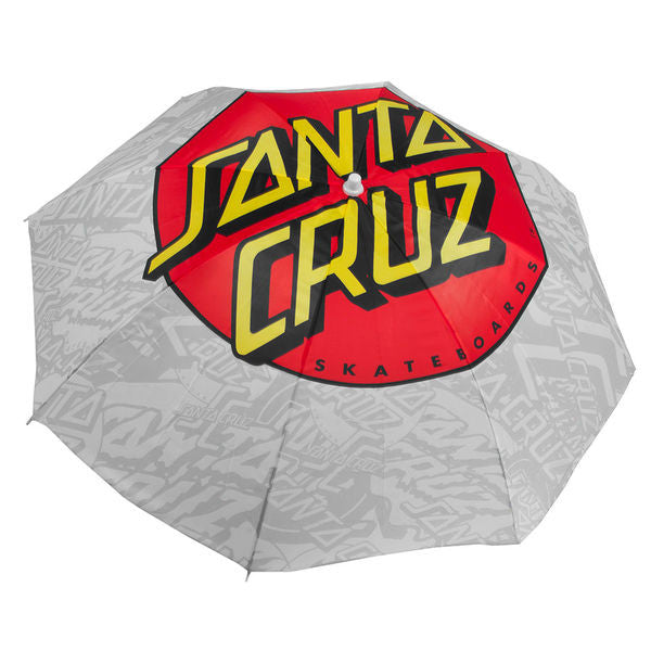 Santa Cruz Classic Dot White Beach Umbrella