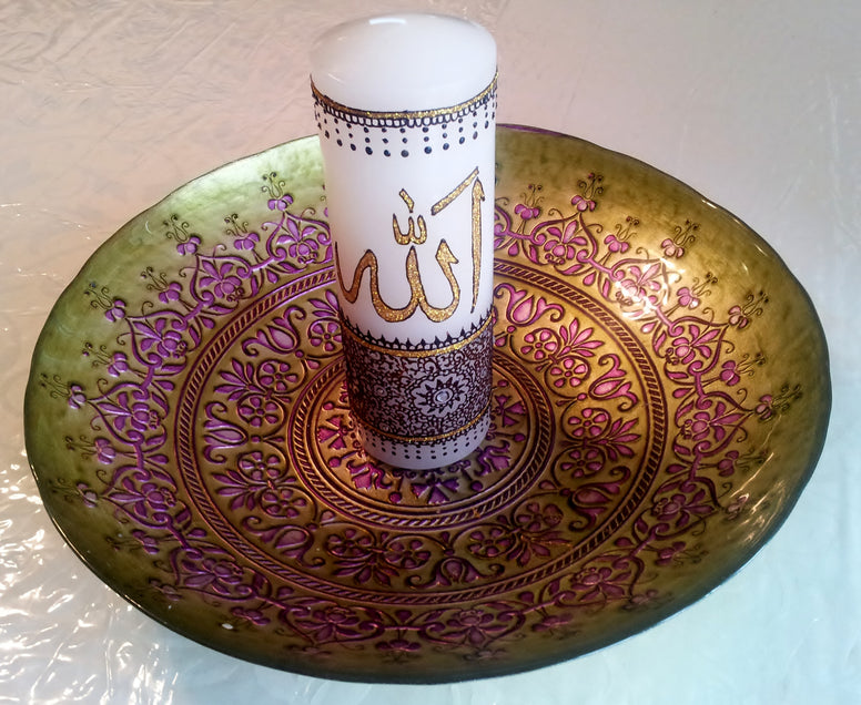 Henna craft-Henna on Candle-Custom party favor