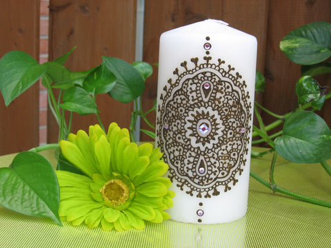 Henna candle-Henna craft-custom gifts-Henna-Mehndi