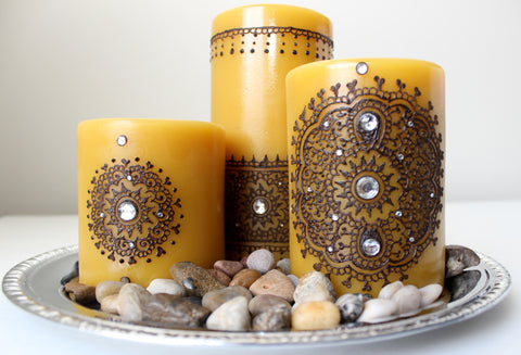Pure Bees Wax Henna Candles by Leezee's Henna Art-Toronto Henna