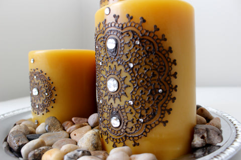 Pure Bees Wax Henna Candles by Leezee's Henna Art