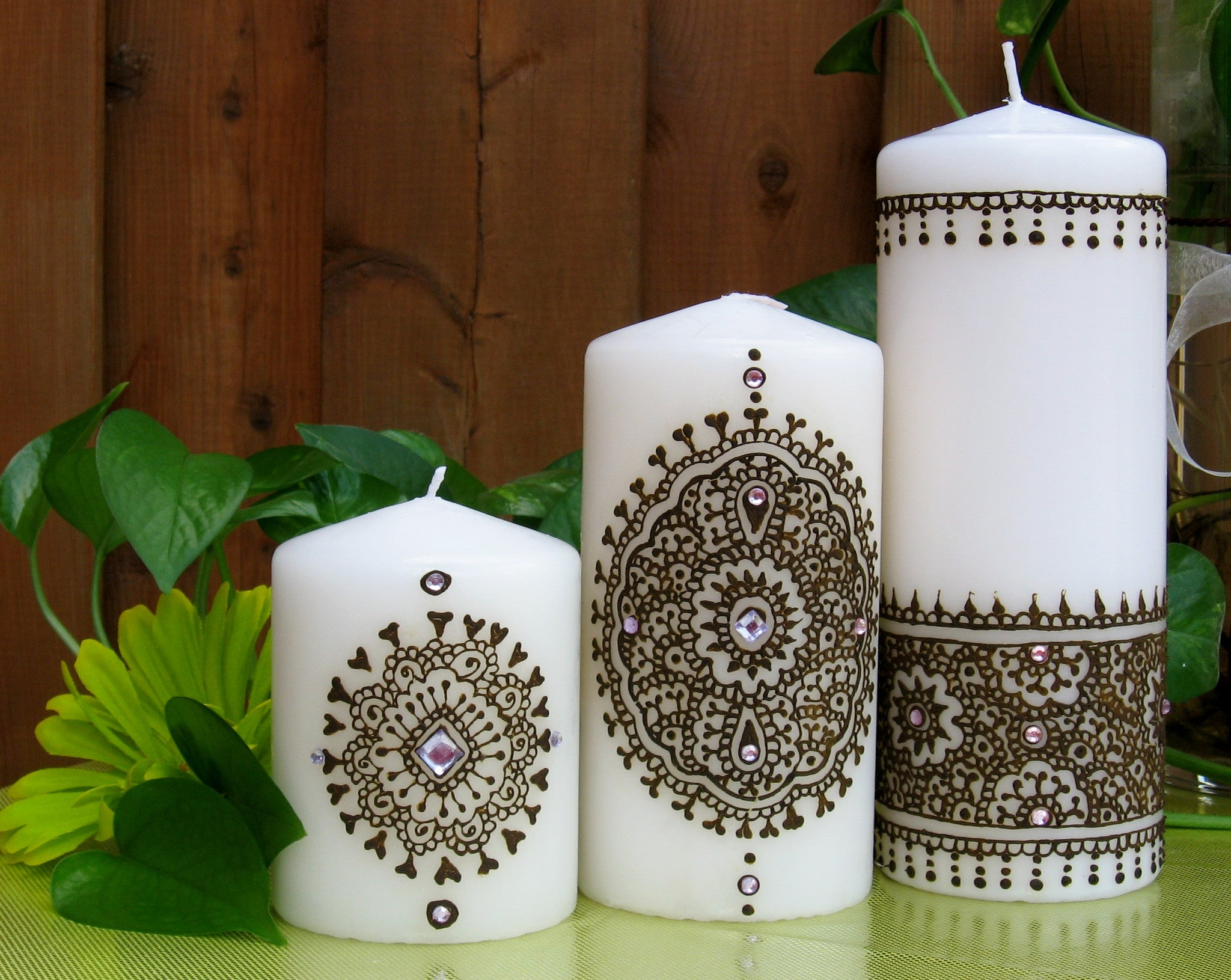 Mehndi Henna Candles : Divine vanilla collection u leezee s henna art