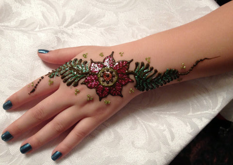 Glitter gel-Temporary tattoo-Henna-Mehndi