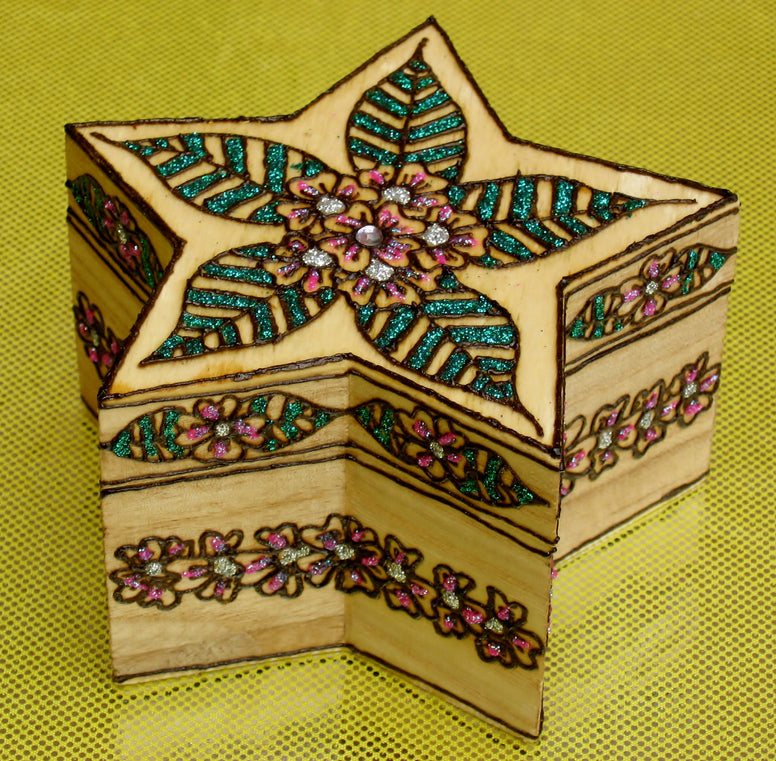 Henna on wood-custom gifts-jewelry box-Henna Crafts-Party favors