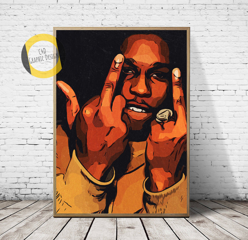 ASAP Rocky Print,ASAP Rocky Poster,ASAP Rocky Art Giclee Print,Music Poster,Hip Hop,Instant Download,Digital Print,Rap Poster,Pop Art