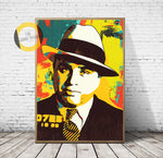 Al Capone Print,Al Capone Poster,Al Capone Art Giclee Print,Gangster Poster,Gangster Canvas,Instant Download,Digital Print,Gangster Gift,Pop Art