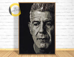 Anthony Bourdain Poster, Anthony Bourdain Print,Anthony Bourdain Wall Art,Anthony Bourdain Artwork,Anthony Bourdain Portrait