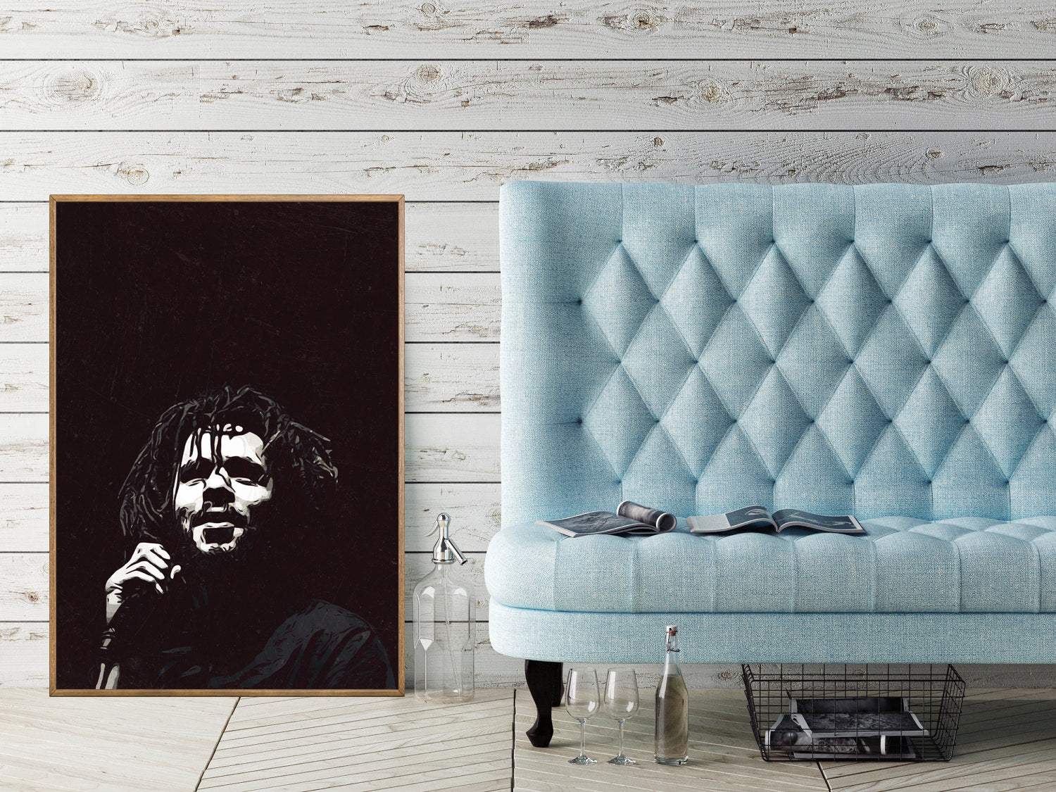 J.Cole Poster,J.Cole Print,J.Cole Home Decor,J.Cole Giclee Print,Music Poster,Instant Download,J.Cole Portrait,J.Cole Black and White Art