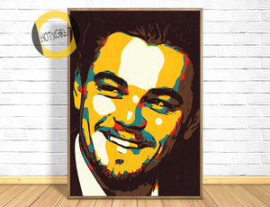 Leonardo DiCaprio Poster,Leonardo DiCaprio Print,Leonardo DiCaprio Art Giclee Print,Instant Download,Digital Print,Pop Art,Movie Poster Art