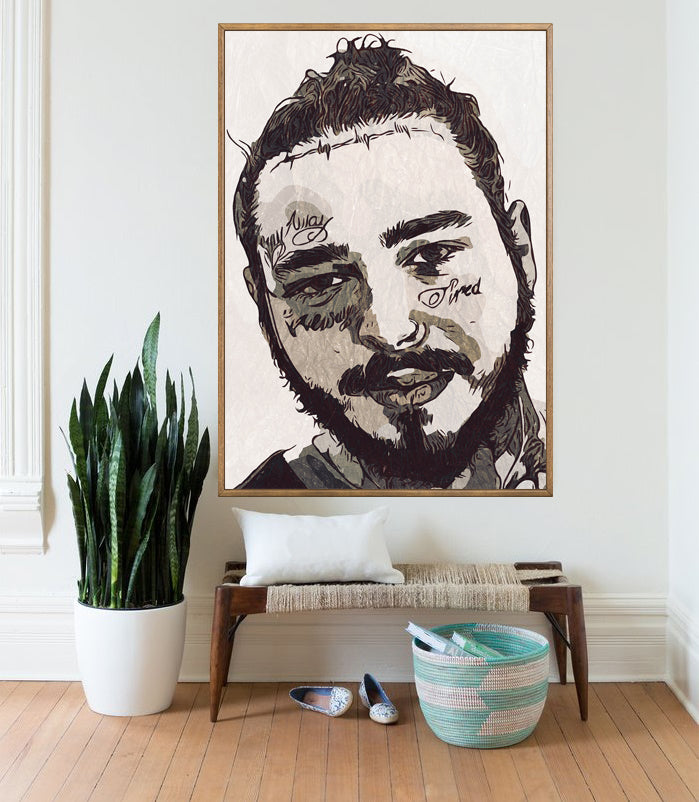 Malone Print,Malone Poster,Wall Art Giclee Print,Music Poster,Hip Hop Poster,Instant Download,Digital Prints,Rap Poster,Pop Culture,Art