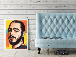 Post Malone Print,Malone Poster,Wall Art Giclee Print,Music Poster,Hip Hop Poster,Instant Download,Digital Prints,Rap Poster,Pop Culture,Art