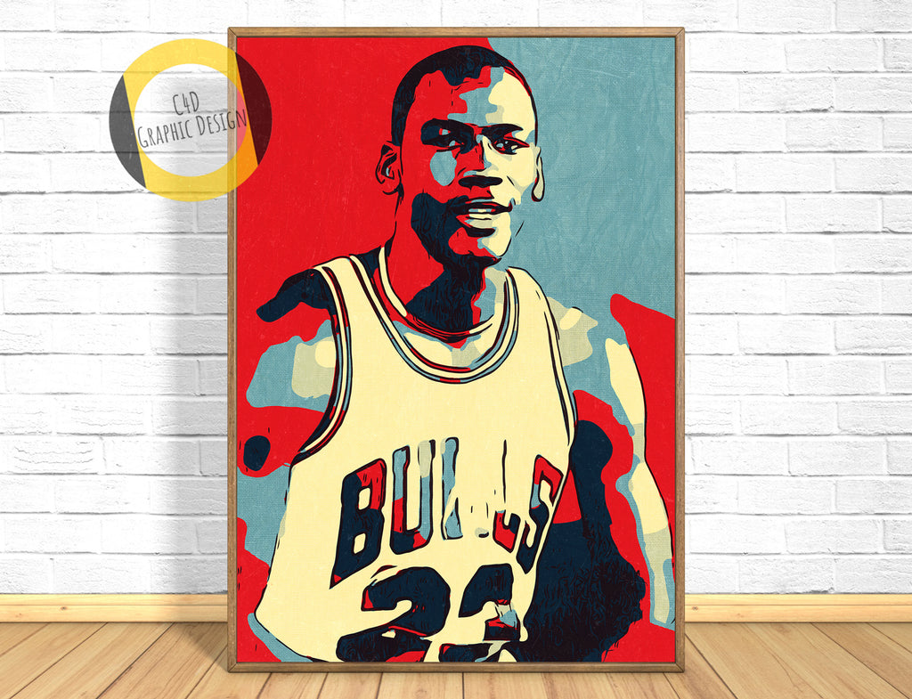 Michael Jordan Poster,Michael Jordan Room Art,Basketball Fan Gift,Basketball Home Decor,Michael Jordan Paint,Pop Art,Michael Jordan Gift