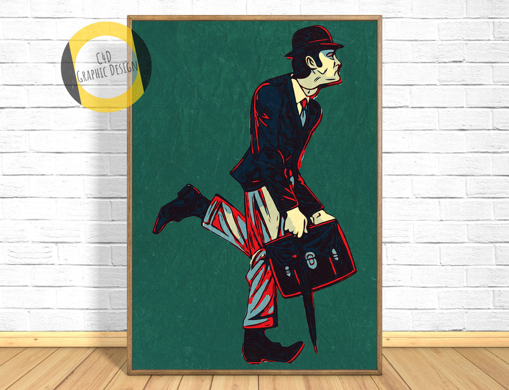 Ministry of Silly Walks Poster,Monty Python Print,Ministry of Silly Walks Art Giclee Print,John Cleese,Funny Print,Instant Download