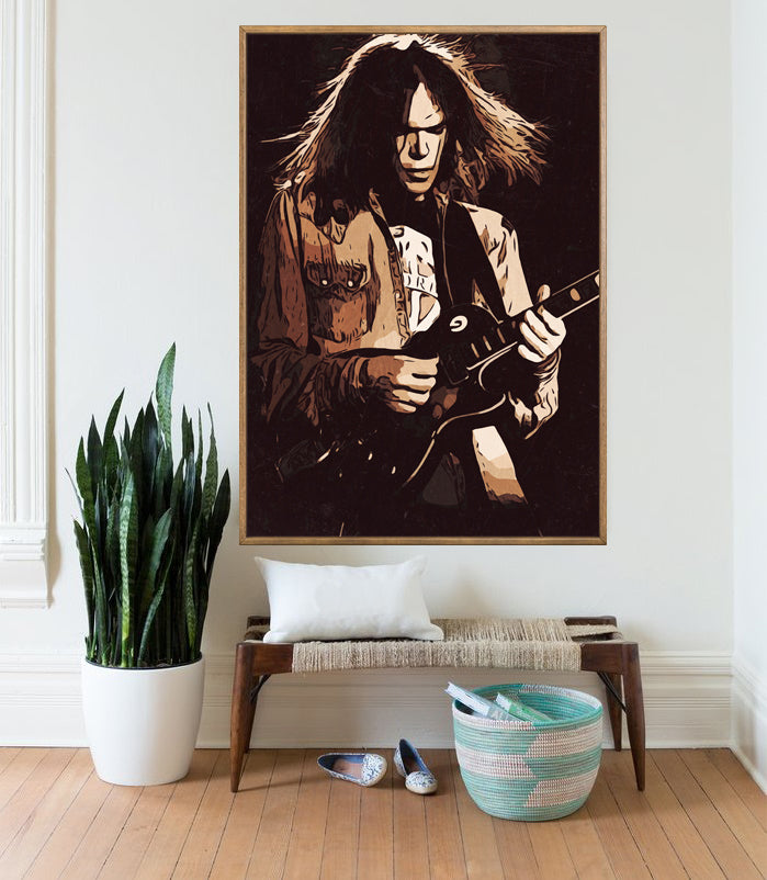 Neil Young Poster,Neil Young Print,Neil Young Home Decor,Neil Young Giclee Print,Music Poster,Instant Download,Neil Young Painting,Wall Art
