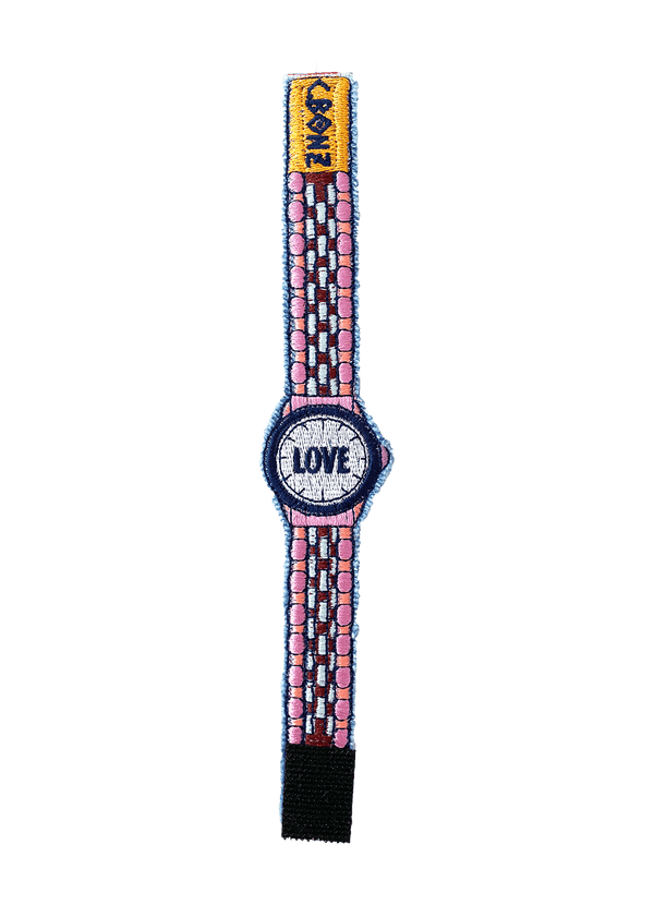 "LOVE Embroidered ""Watch"" Bracelet"