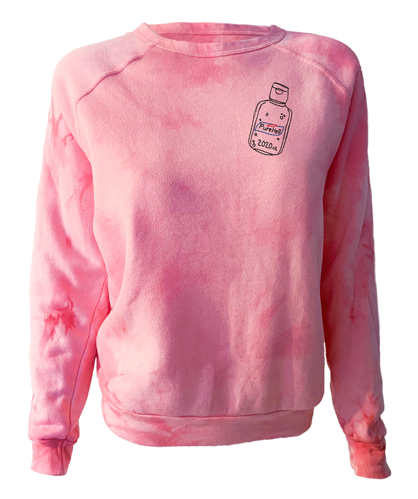 Purehell Embroidered Tie Dye Pullover