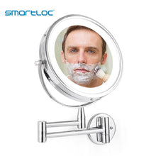 Load image into Gallery viewer, Mirrorizer - Extendable LED 8 inch 5X Magnifying Bathroom