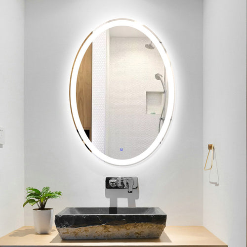 Mirrorizer - Smart Mirror, LED Screen Wall Mirror Bathroom - Round