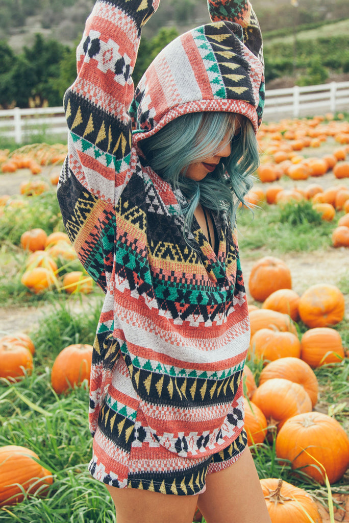 Cozy Native Hooded Sweater