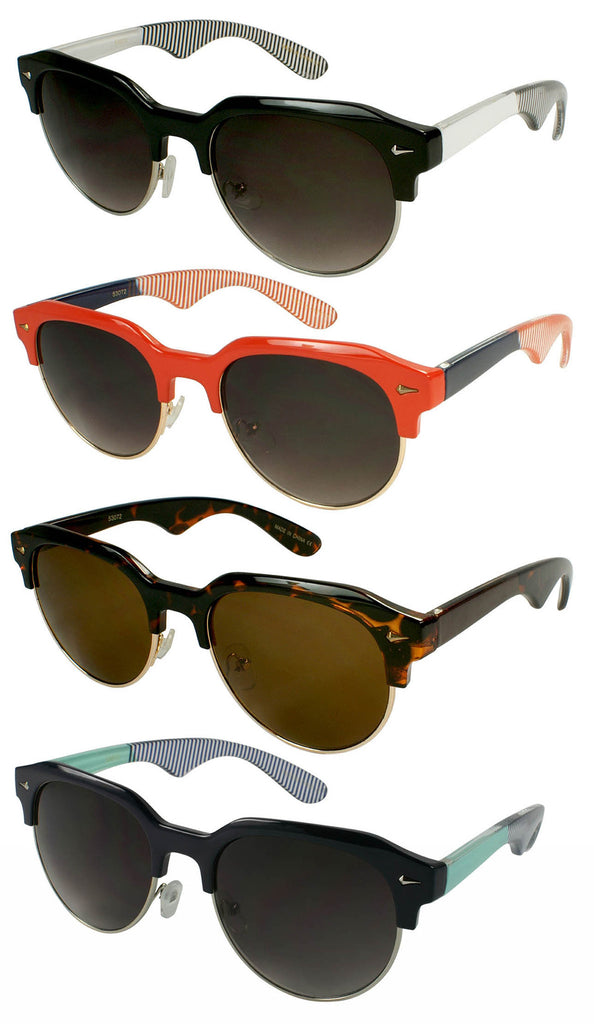 Pop Clubmaster Sunglasses - Black, Navy, Tortoise, Red