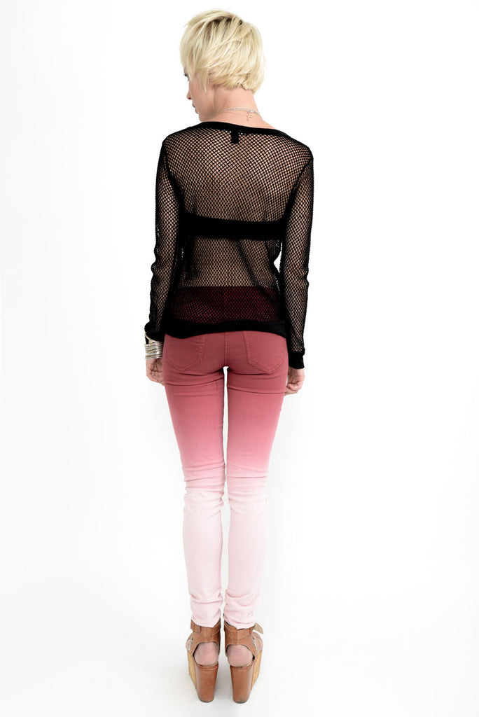 Melted Bubblegum Ombre Jeans - Wine