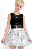 Mermaid Cat Iridescent Skirt - Sliver