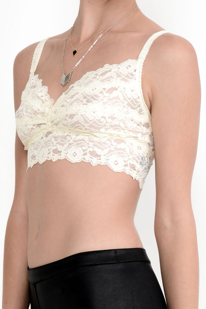 Sweet Dreams Lace Bralette - White