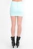 Side cut out skirt - Aqua