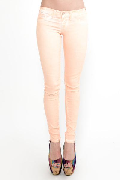 Orange Soda Skinny Jeans - Orange