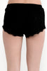 Lace Fringe Shorts - Black