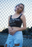 MINKPINK Basic Slogan Crop Top