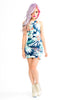 Motel Tropical Blue Sasha Bodycon Dress - Blue