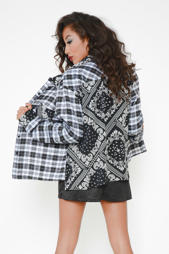 Bandit Babe Button Up Flannel