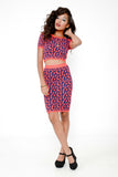 Pop Polka Dot Bodycon Skirt