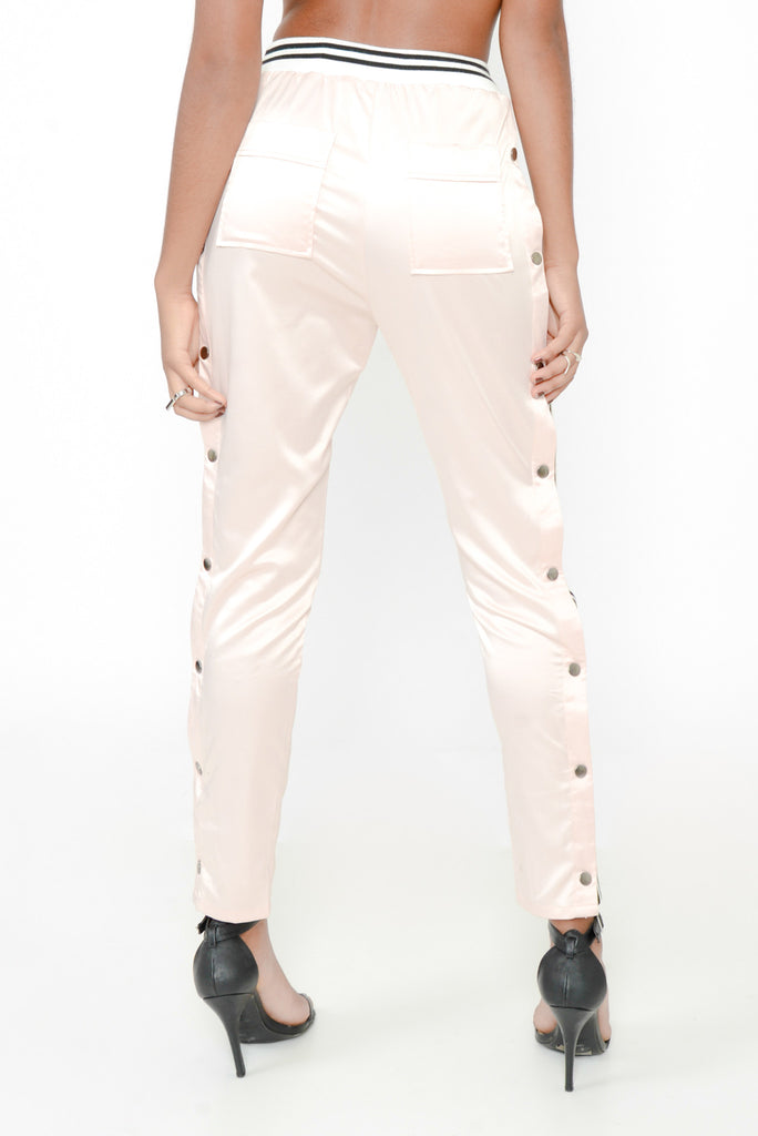 Make Me Blush Silk Track Pant
