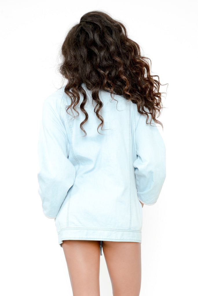 Get A Clue Oversized Denim Jacket