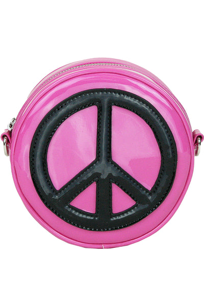 Peace Of My Heart Crossbody Bag - Pink