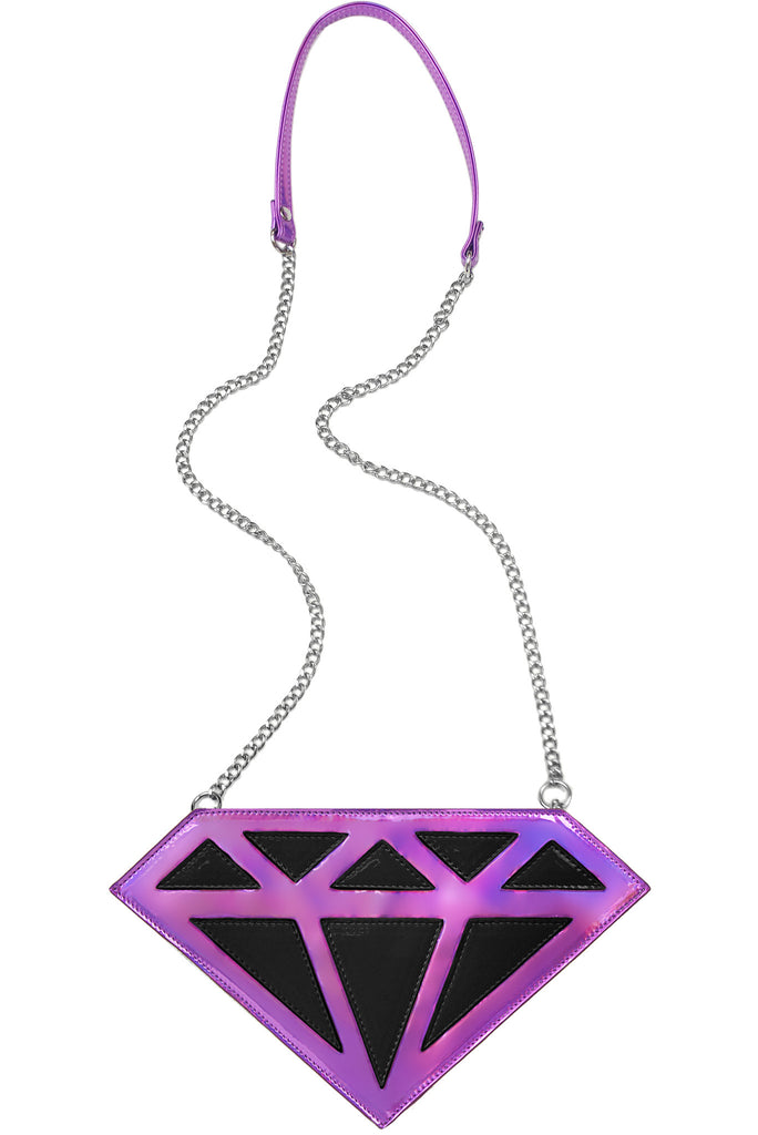Diamonds Are Forever Crossbody Bag - Purple