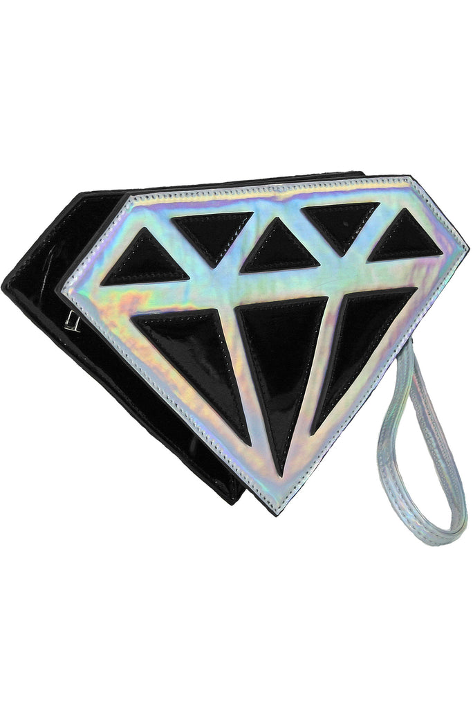 Diamonds Are Forever Crossbody Bag - Sliver
