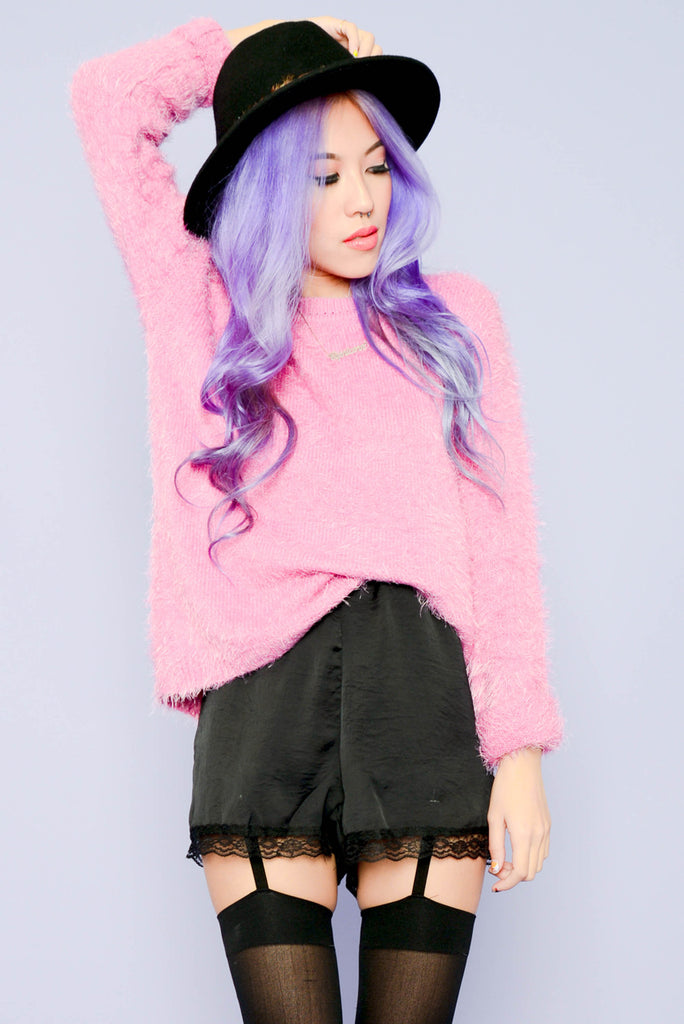 Feel the Fuzzles Sweater - Pink