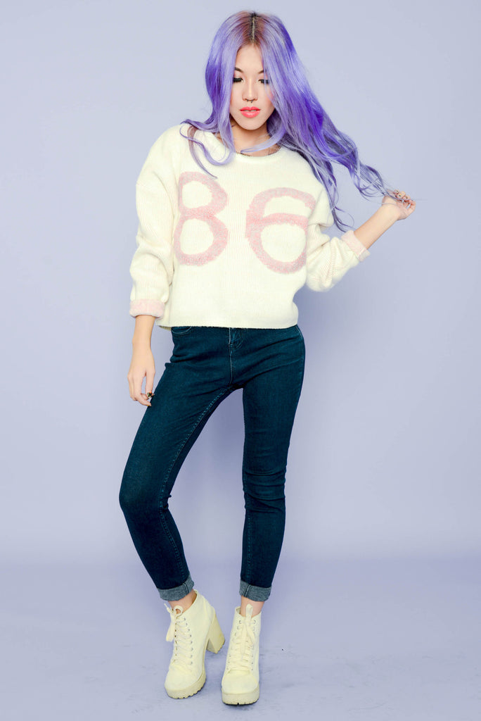 Chunky 86 Team Sweater - Light Pink