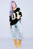 Varsity Loose Knit Sweater - Black