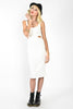 Cookie Cutter Midi Length Dress - White