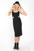 Cookie Cutter Midi Length Dress - Black