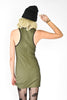 Solid Racerback Mini Dress- Olive